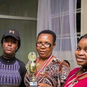 Kelly Mwanza,Mrs Mukogo and Precious Bondokoto in Botswana for a debate competition in Kenya.they came 1st